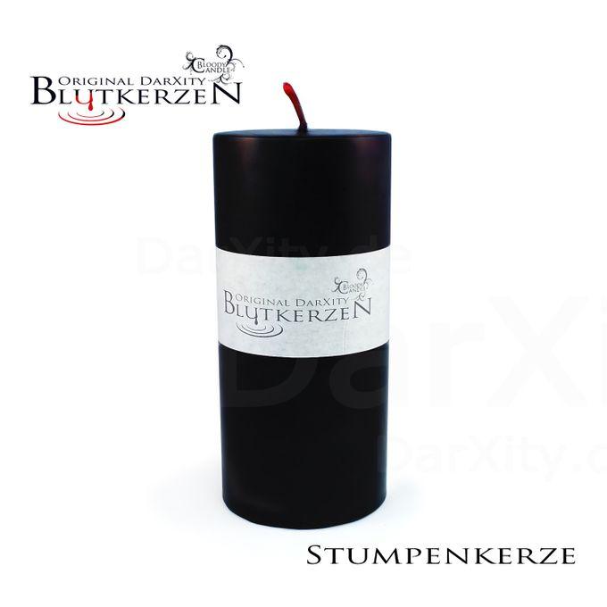 Original DarXity Blutkerze - Stumpenkerze 13,5 x Ø 6,5 cm