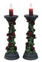 1 Paar Kerzenständer mit Efeu und Rosen