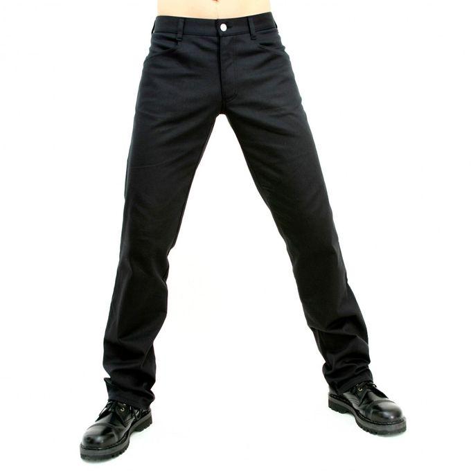 Jeans Denim: schlichte, schwarze Hose