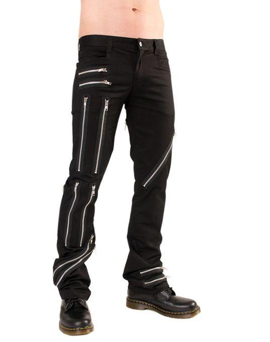 Zipper Pants, im schlichten Jeans Design