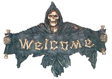 Türschild Welcome