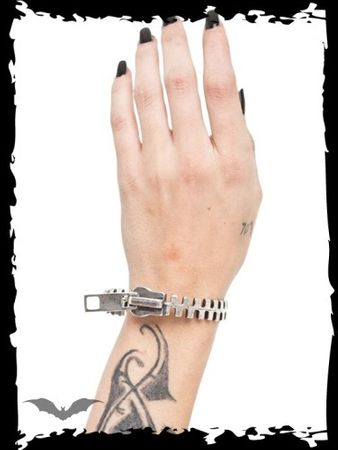 Armband im Zipper-Design
