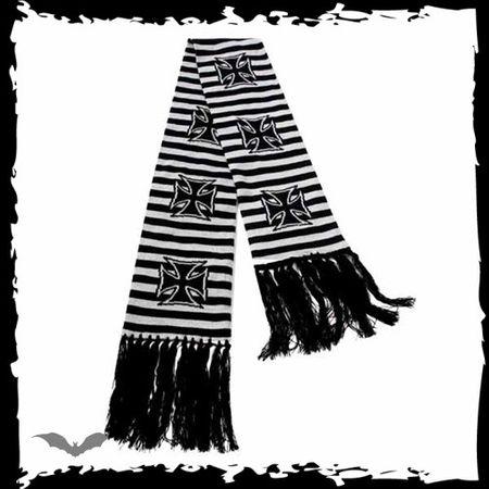 schwarz - grau gestreifter Schal