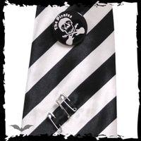 schwarz-weiß gestreifte Krawatte – Bild 2