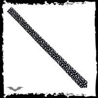 schwarze Krawatte mit weißen Sternen – Bild 1