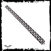 schmale, schwarze Krawatte mit Karten – Bild 2