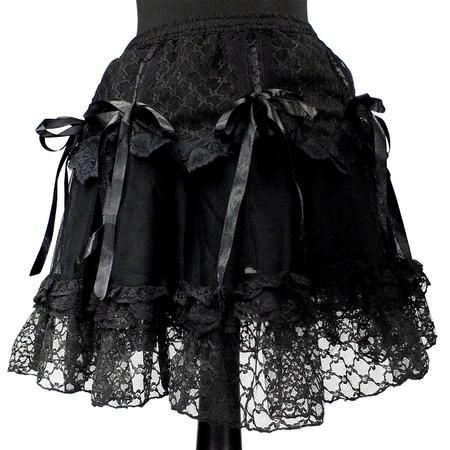 schwarzer Mini Tüllrock mit Schleifen