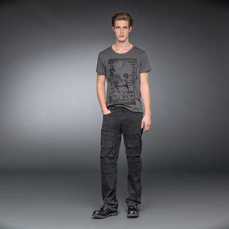 Gothic Hose im Used-Look mit Taschen und Ziernähten