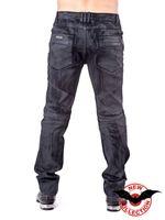schwarze Hose in Lederoptik mit Used-Look – Bild 4
