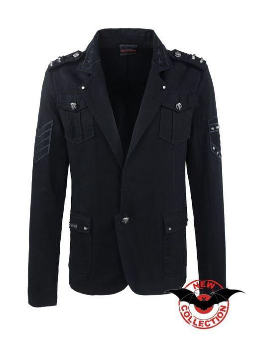 schwarzer Blazer im Military Style