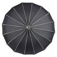 schwarzer Gothic Pagodenschirm mit Zierkante – Bild 2