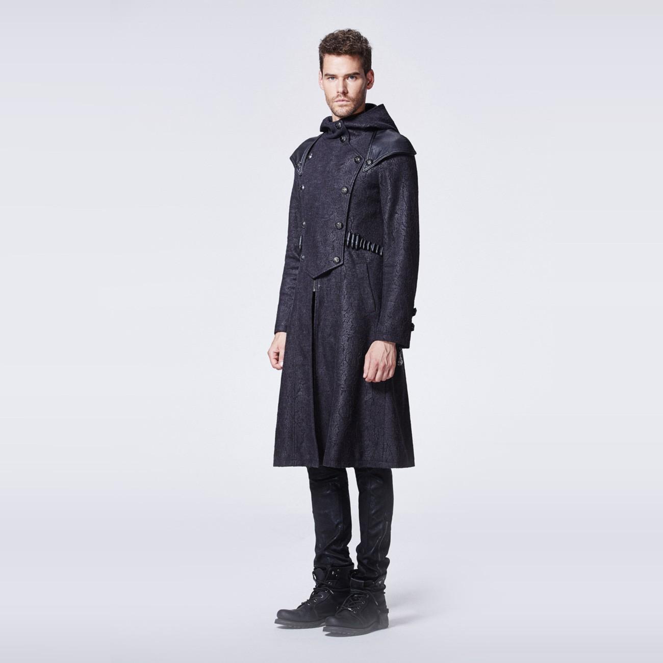 Schwarzer assassinen mantel mit kapuze for Schwarzer langer mantel