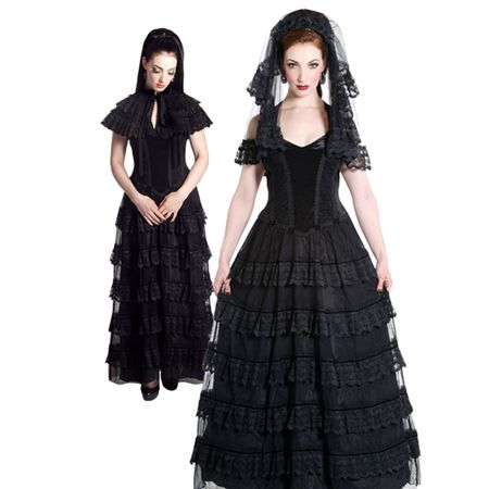 Dark Romance Gothic Ballkleid - Vorschau