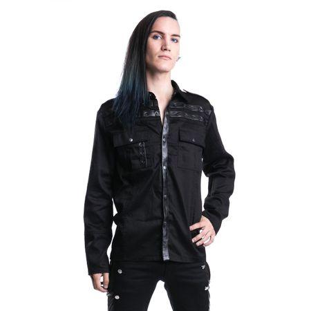 Draw Shirt, langarm Gothic Shirt von Vixxsin