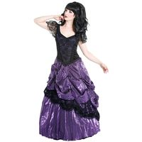 lila Black Rose Dress, Gothic Ballkleid