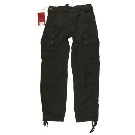 Black Trousers, schwarze Army Hose, Front