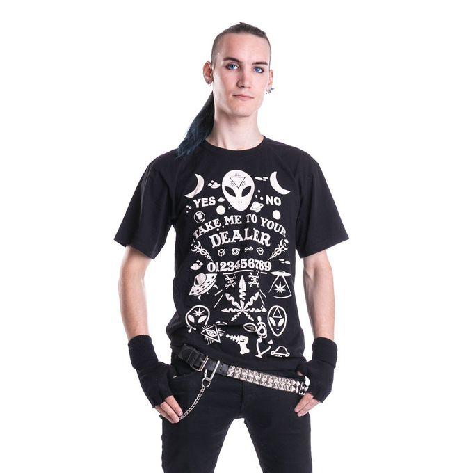 DEALER, T-Shirt mit okkult designten Prints
