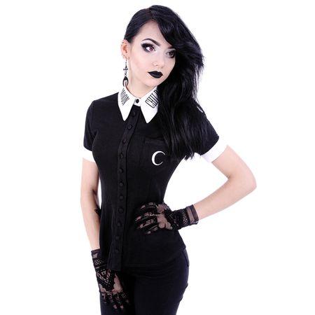 MOON CHILD SHIRT: Occult Shirt mit Mond Print