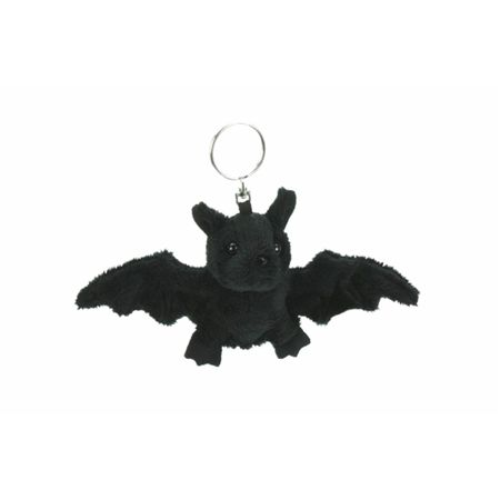pechschwarzer Schlüsselanhänger Fledermaus