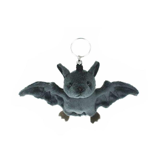 Schlüsselanhänger Fledermaus, dunkelgrau