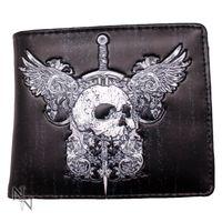 Männer Geldbörse, Portmonee mit Skull und Flügeln