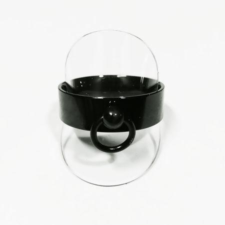 Schwarzer Edelstahlring Ring der O 8mm