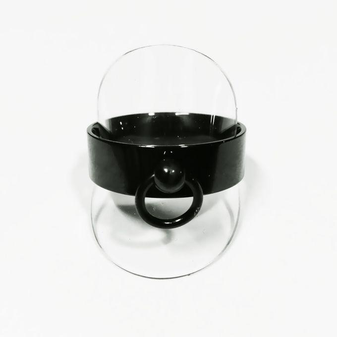 Schwarzer Ring der O, Edelstahl 8mm