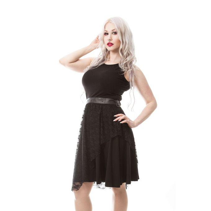 Silent Night Dress - Gothic Kleid mit Schnürung