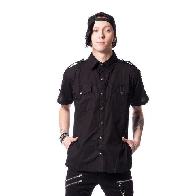 THORIN SHIRT: schwarzes Herren Hemd