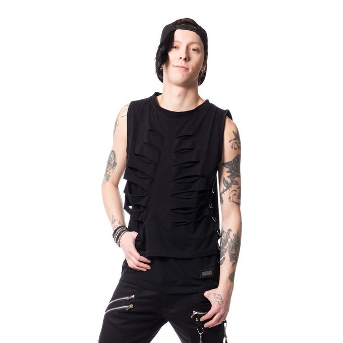 CAIN TOP: Punk Shirt mit D-Ringen