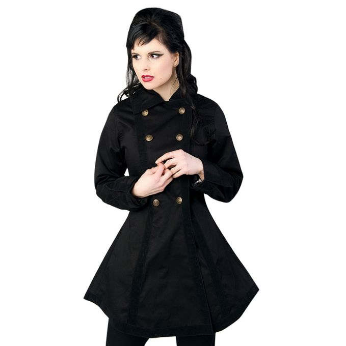 PIRATE JACKET: Damen Jacke schwarz