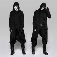 PSYCHONAUT TOP, extrem langer Cardigan im okkulten Design mit Kapuze