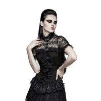 MISTIQUE SHIRT: elegante Gothic Bluse aus Spitze
