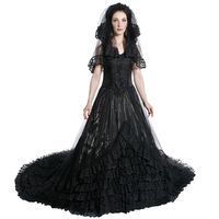 GOTHIC WEDDING DRESS: Gothic Hochzeit Kleid mit langer Schleppe