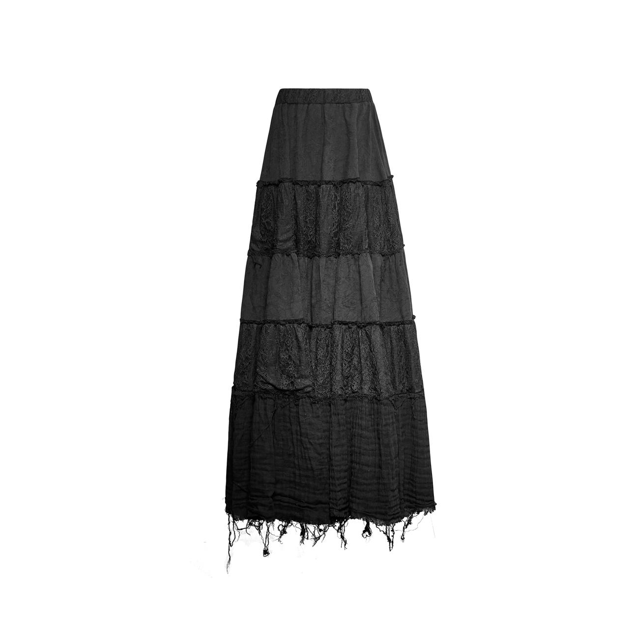 new concept e6409 61f0e WITCHCRAFT SKIRT: langer schwarzer Rock