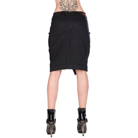 Aderlass Military Skirt Denim Rückansicht