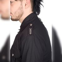 MILITARY SHIRT DENIM: Gothic Hemd – Bild 3