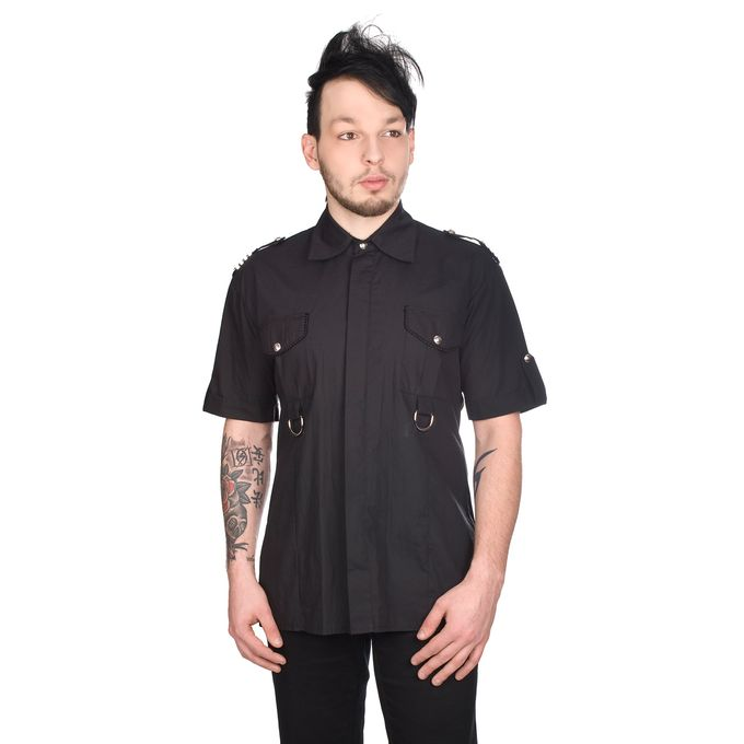 MILITARY SHIRT DENIM: Gothic Hemd 001