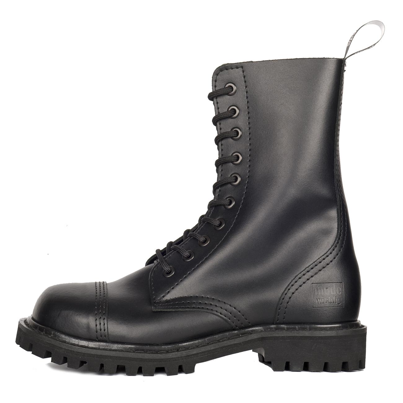 10 loch mw steel boots mit stahlkappe schuhe mode wichtig. Black Bedroom Furniture Sets. Home Design Ideas