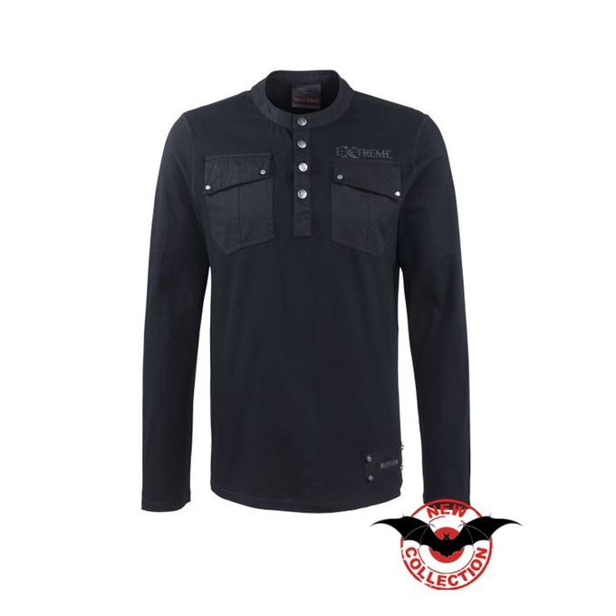 Herren Langarmshirt schwarz