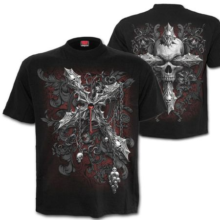 CROSS OF DARKNESS: beidseitig bedrucktes T-Shirt