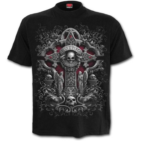 IN GOTH WE TRUST: Front Print T-Shirt