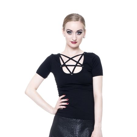CASUAL TOP: Pentagramm Gothic Shirt