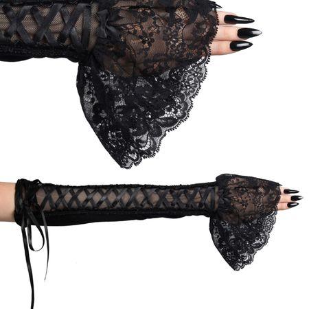 Black Baroness Armwarmers: Samt Armstulpen