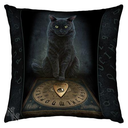 HIS MASTERS VOICE: Lisa Parker Kissen klein, 42 cm, mit schwarzer Katze