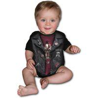 BABY BIKER: schwarzer Babybody mit Print – Bild 2