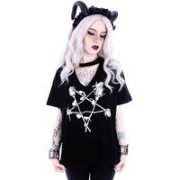 ROSE PENTAGRAM: schwarzes Damen Shirt – Bild 2