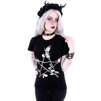 ROSE PENTAGRAM CLASSIC: schwarzes Damen Shirt – Bild 3