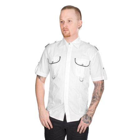 ADERLASS MILITARY SHIRT DENIM: weißes Military Shirt