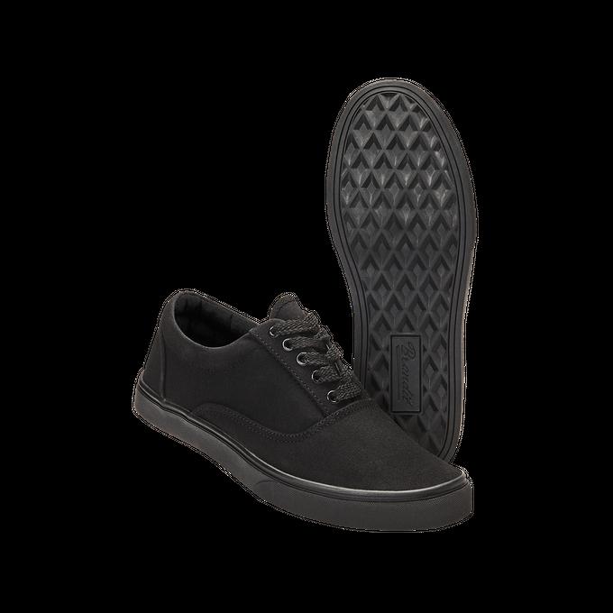 BAYSIDE SNEAKER: schwarze Stoffschuhe